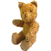 "Vintage 9"" Glass Eyed Teddy Bear circa 1930-1940"