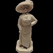 Wonderful Goebel Gibson Girl Bisque Figurine Match Holder