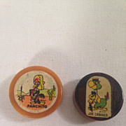 Vintage Disney Panchito & Joe Carioca Bakelite Pencil Sharpeners