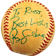 1980's Ryne Sandberg Autographed Baseball