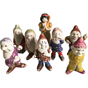 Snow White and the Seven Dwarfs Japan Bisque Dwarves George Borgfelt Co.