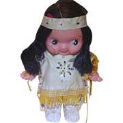 Bisque Native American Indian Googly Doll Japan