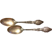 Baker Manchester Hallmarked Oklahoma Souvenir Sterling Silver Spoon - 2 Available