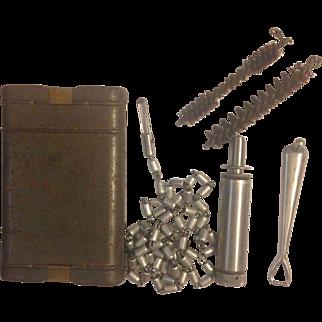 Original WWII German 98k K98k Mauser Rifle Cleaning Kit- Marked G. Appel 1937 WaA 452