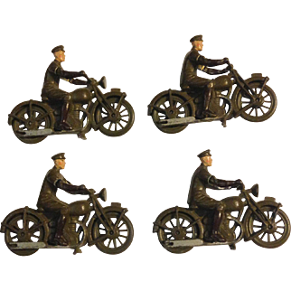 Britains Royal Corps of Signals Dispatch Riders - Set 1791 Diecast Military Motorcycle Toys