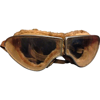 WWII German Luftwaffe Aviator Pilot Goggles WW2