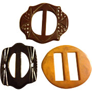 Collection of Vintage Bakelite Buckles