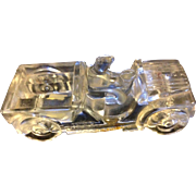 Glass Jeep Willys Candy Container