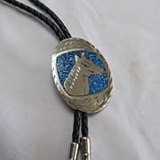 Native American Style Bolo Nickle Silver