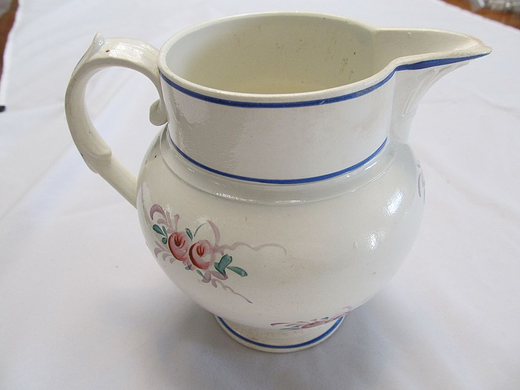 19th Century French Faience Pitcher