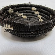 Native American Style Horse Hair Basket - Red Tag Sale Item