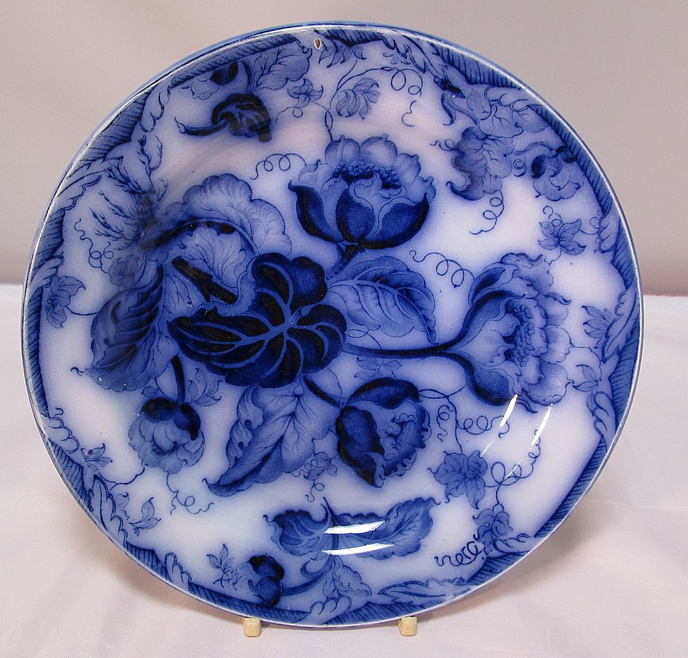Antique Wedgwood Flo-Blue  Plate