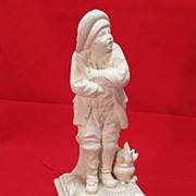 Ceramic figure L'Hiver [ Winter ] Italy 11 inches tall