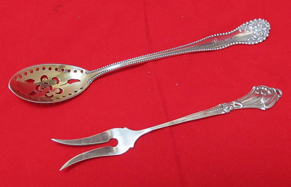 Pair of Antique English Sterling Spoons