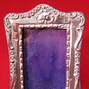 Petite Antique Victorian Sterling Photo Frame
