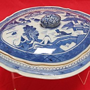 Antique Chinese Canton Covered Dish