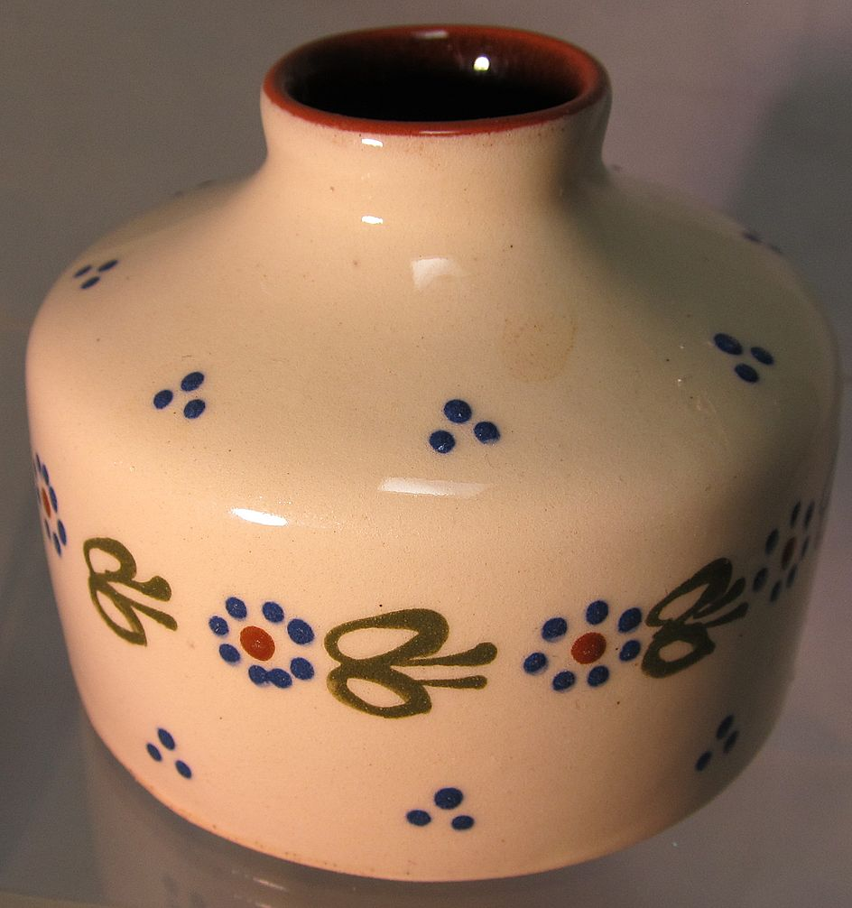 Torquay Ware pottery Inkwell