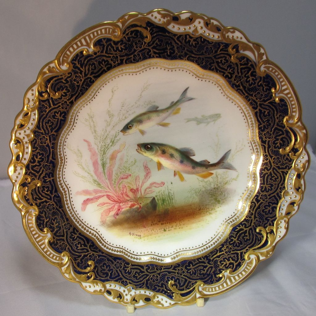 George jones hand painted porcelain plate from for Where to buy ceramic plates to paint