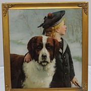 Chromolithograph Chums Victorian English