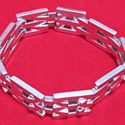 Mexican Sterling Silver Link Bracelet