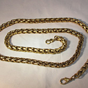 Beautiful Heavy Gold-Tone Twist Link Necklace