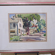 Gianni Cilfone -Wauconda Illinois Street Scene-Water Color