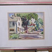 Gianni Cilfone -Wauconda Illinois Street Scene-Water Color