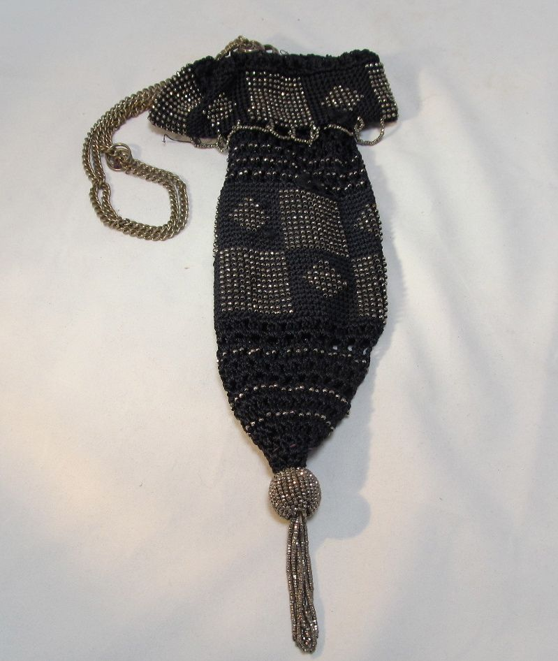 Crochet Beaded Marcasite Bag from thesteffencollection on ...
