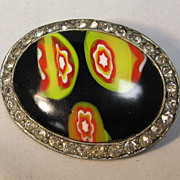 Art Glass Brooch