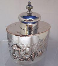 Antique Sheffield Tea Caddy