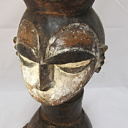 African Igbo [ Nigeria ) Carved Wooden Tribal Head
