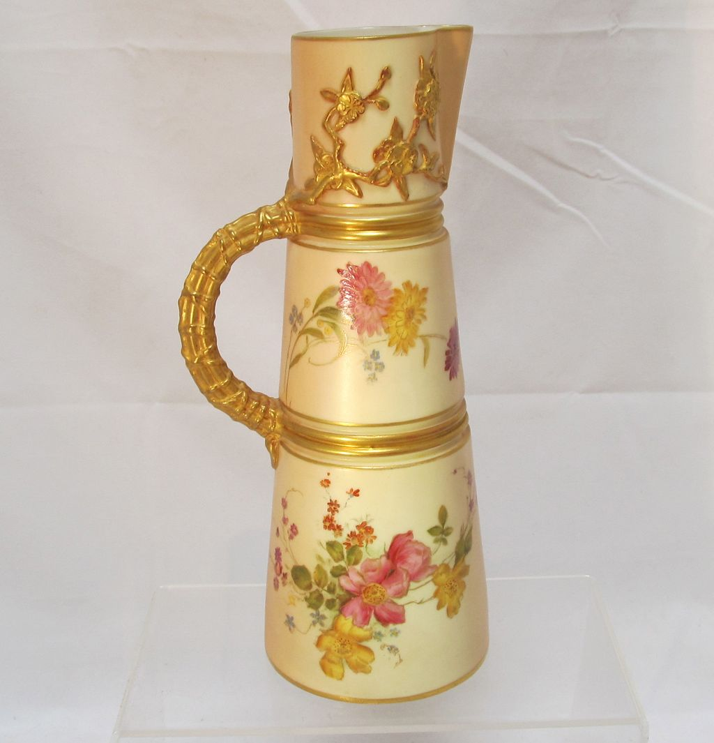 Antique Royal Worcester Ewer