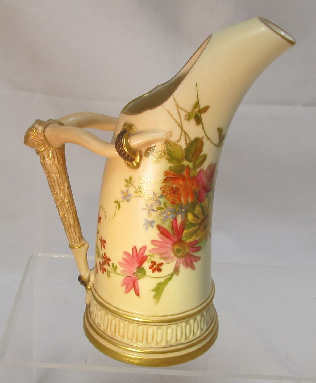 Royal Worcester Blush Ivory Ewer Dated 1896 The Steffen
