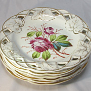 Set of Six Porcelain Desert Plates