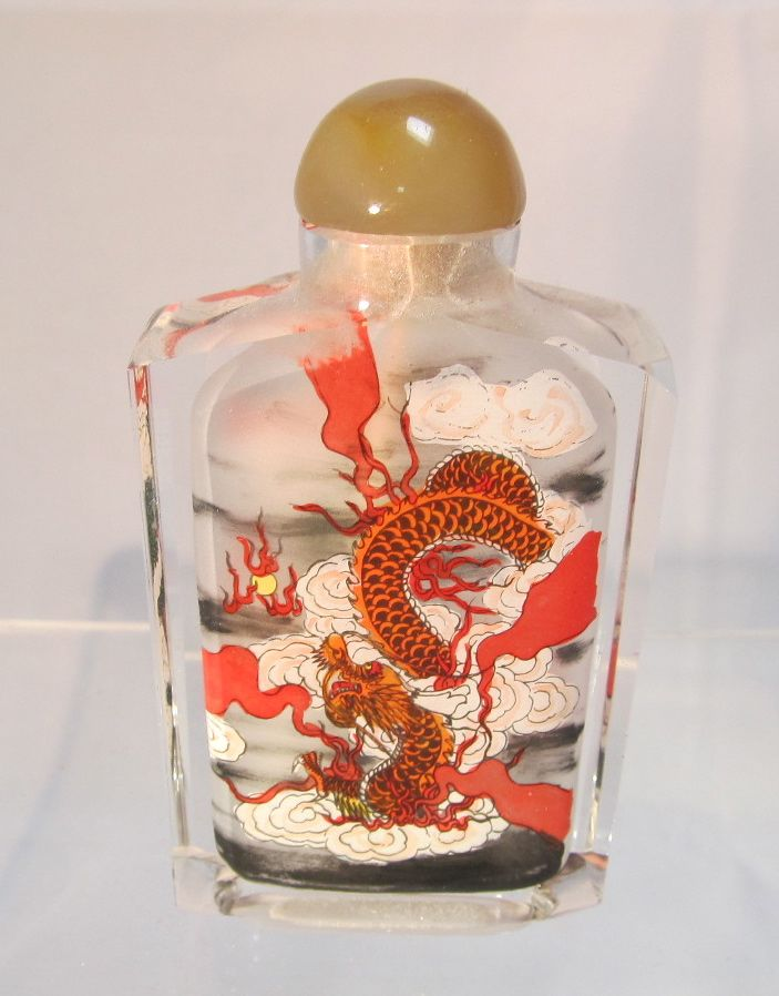 Chinese Inside Painted Glass Snuff Bottle The Steffen