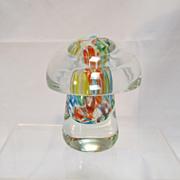 Glass Paperweight Mushroom