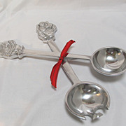 Santa Claus Aluminum Salad Servers