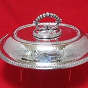 Antique English Plated Serving Dish