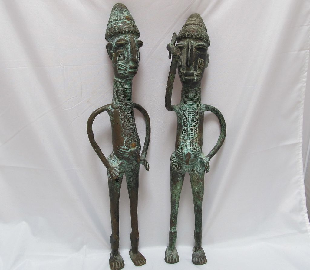Pr Bronze African Warriors Benin