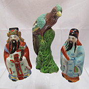 Three Chinese Porcelain Figures