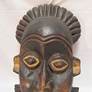Primitive African Decorative Mask Wood