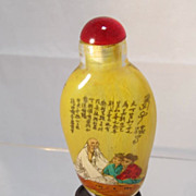 Inside Painted Chinese Glass Snuff Bottle