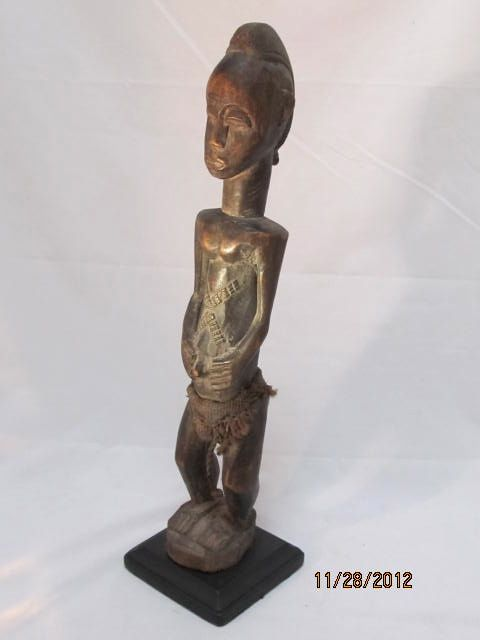 African Baule Female Figure Ivory Coast