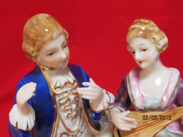 Porcelain Figurine By Maruyama Of A Couple From