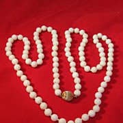 White Coral Beaded Necklace