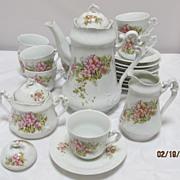 23 Piece Continental Porcelain Coffee Set