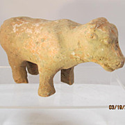 Antique Chinese Han Dynasty Pottery Cow