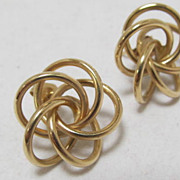 14 K Love Knot Earrings