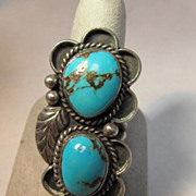 Turquoise Silver Native American Style Ring
