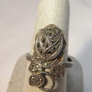 Old Marquisette Sterling Ring